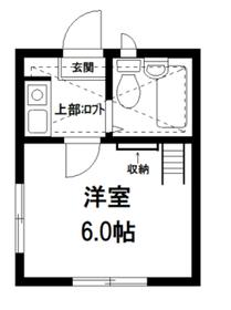 ホワイトキャッスル貫井2階Fの間取り画像