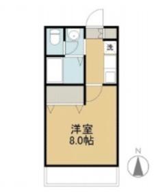 フィオーレ上東 Ⅱ2階Fの間取り画像