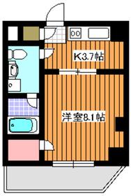 天王坂ヒルズイースト3階Fの間取り画像