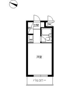 スカイコート川崎5階Fの間取り画像