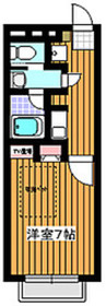 サンライズハウスA棟1階Fの間取り画像
