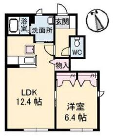 サンホーム老松 A1階Fの間取り画像