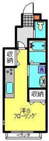 寺ノ上サニーコート61階Fの間取り画像