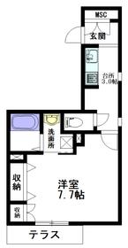 グリツィーニェ中野坂上1階Fの間取り画像