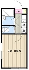 ロッシェル千代田1階Fの間取り画像