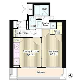 MMガーデン5階Fの間取り画像