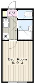 ロッシェル富士見2階Fの間取り画像