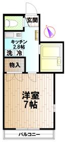 インペリアル・アサマ1階Fの間取り画像