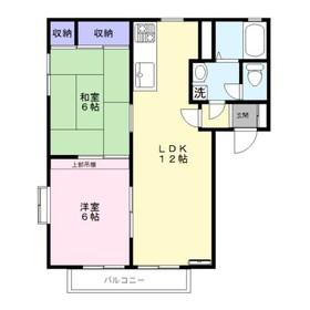 グリーンハーモニーUSA S棟2階Fの間取り画像
