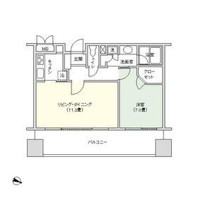 千代田ファーストハイツ16階Fの間取り画像
