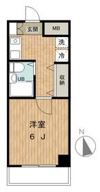三田クラウンハイツ4階Fの間取り画像