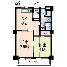 ベルカディーマンション2階Fの間取り画像