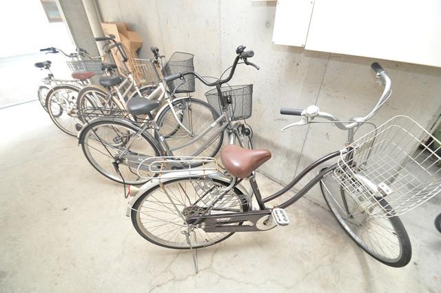 OKハイツ神路 駐輪場が敷地内にあります。愛車を安心して置いておけますね。