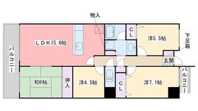 パークハウス姪浜駅前5階Fの間取り画像