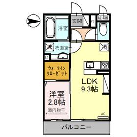 セレブ琴平2階Fの間取り画像