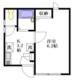 メゾン ドゥ パピヨン1階Fの間取り画像