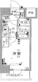スカイコート日本橋人形町第54階Fの間取り画像