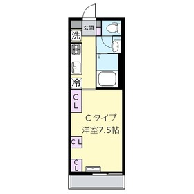 リブリ・上福岡Ⅱ1階Fの間取り画像