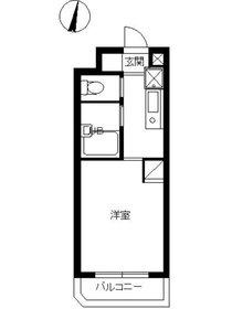 スカイコート新宿落合第63階Fの間取り画像