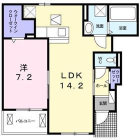 Amrita Ⅲ1階Fの間取り画像