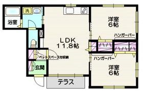 maison de mimosa 1階Fの間取り画像