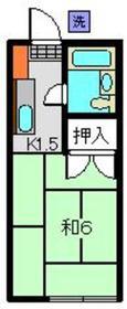 霞台ハイツ1階Fの間取り画像
