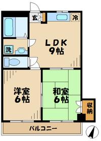 第二ノーブルマンション2階Fの間取り画像