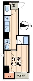 デュオメゾン菊川3階Fの間取り画像