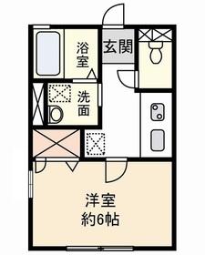 マイ・コンフォート諏訪1階Fの間取り画像
