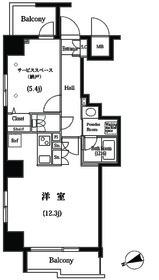 築地明石町デュープレックスR's3階Fの間取り画像