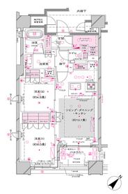 オーパスレジデンス銀座イースト5階Fの間取り画像