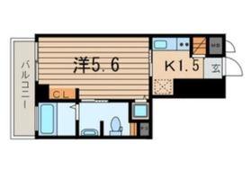 横浜翠葉BuildingI7階Fの間取り画像