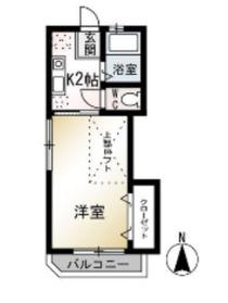 ハイツ茅ヶ崎2階Fの間取り画像
