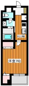 白子リバーハイツ4階Fの間取り画像