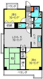 フジハイツ丸山台2階Fの間取り画像