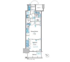パークアクシス豊洲キャナル6階Fの間取り画像