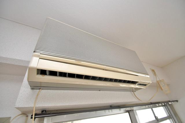 エンゼルハイツ小阪本町 エアコンが最初からついているなんて、本当に助かりますね。