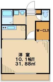 フォルトゥーナ1階Fの間取り画像
