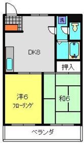 アルボーレ浜田2階Fの間取り画像