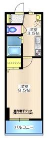エスコート渋谷松濤1階Fの間取り画像
