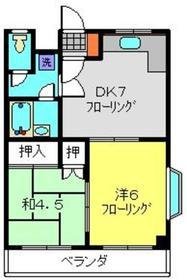 キャッスルヒロ3階Fの間取り画像