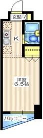 アルス川崎6階Fの間取り画像