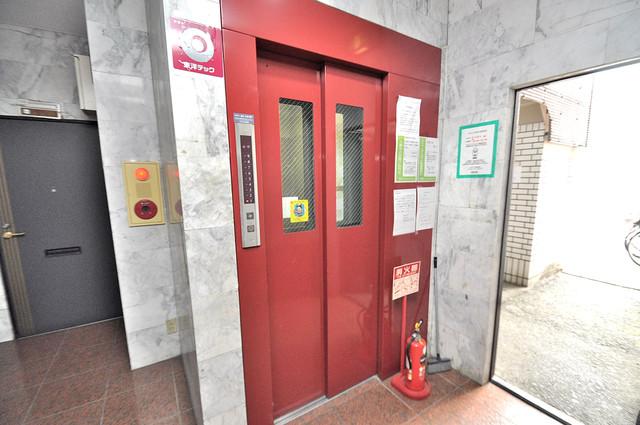 エンパイヤシティ 嬉しい事にエレベーターがあります。重い荷物を持っていても安心