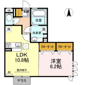 ドミール withD1階Fの間取り画像