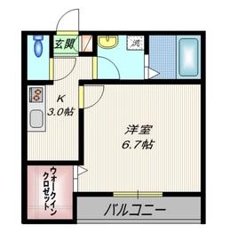 ソフィア3階Fの間取り画像