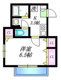 プライムコート1階Fの間取り画像