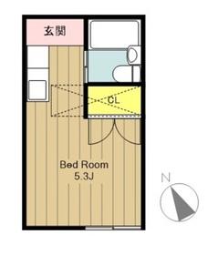 京王稲田堤駅 徒歩5分2階Fの間取り画像