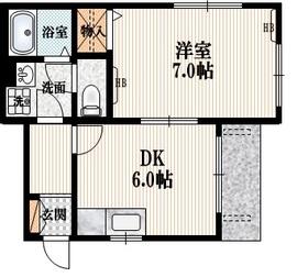 コリーヌ西参道1階Fの間取り画像