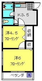 リバーサイド井上2階Fの間取り画像