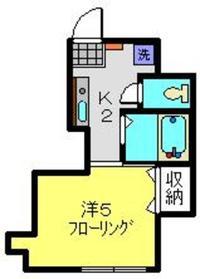 第7Z西村ビル3階Fの間取り画像